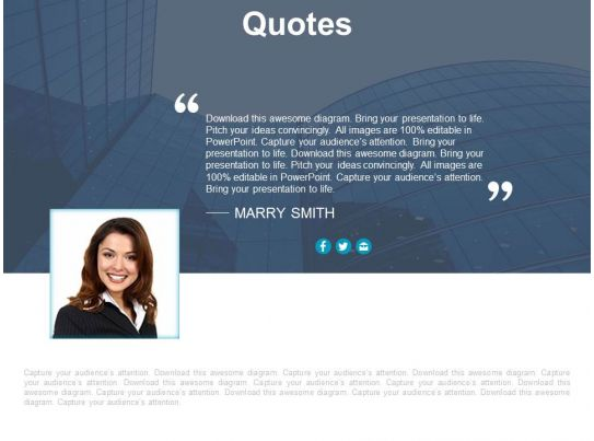 Quote Slide Presentation Quotes - quote on presentation
