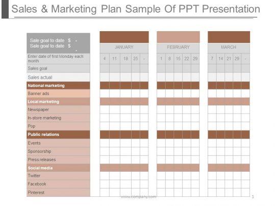 business plan sample ppt