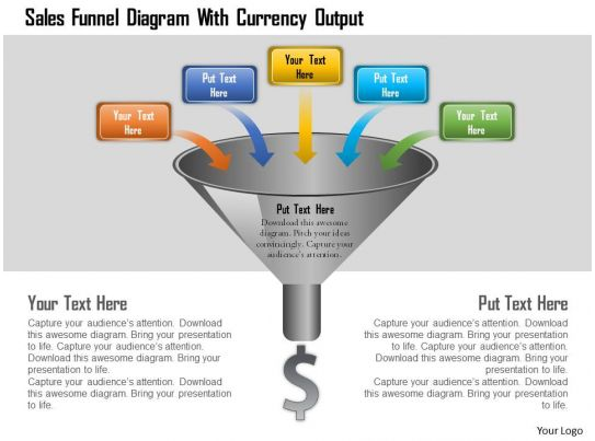 Case Studies In Business Management Cases Strategy Sales Funnel Diagram With Currency Output Powerpoint