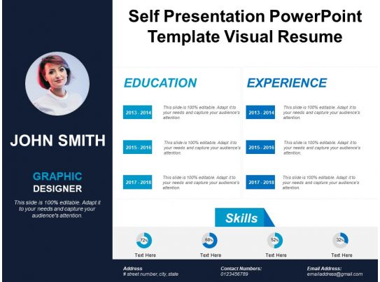 powerpoint templates for visual resume