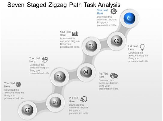 zj seven staged zigzag path task analysis powerpoint template Slide04