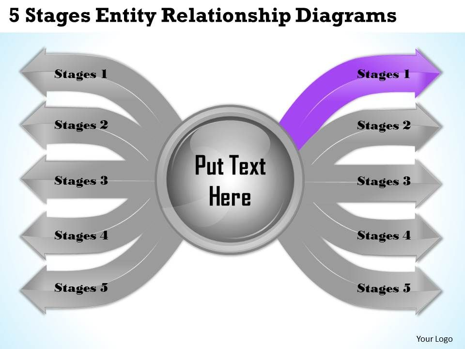 1013 business ppt diagram 5 stages entity relationship diagrams