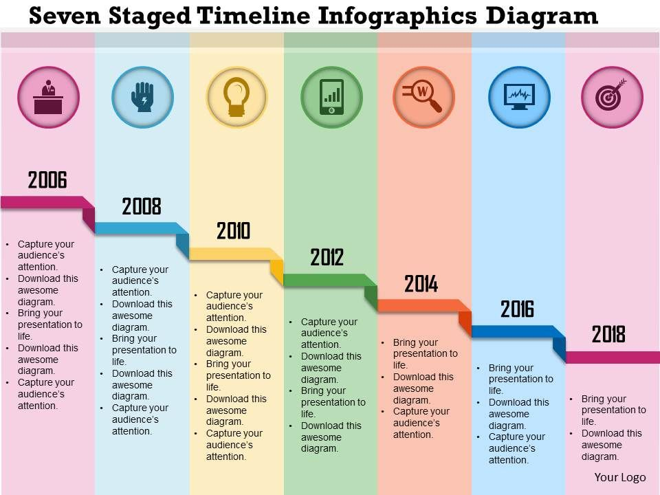 0115 Seven Staged Timeline Infographics Diagram Powerpoint Template