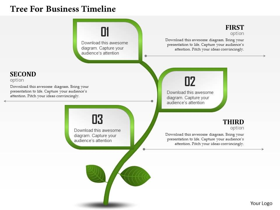 0314 Business Ppt Diagram Tree For Business Timeline Powerpoint - business timeline template