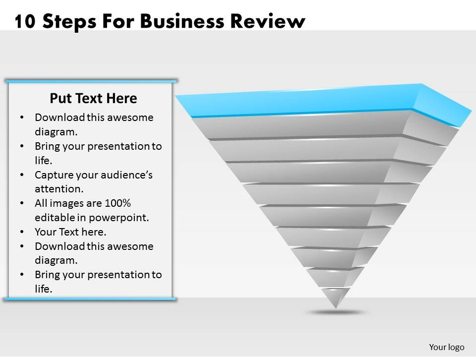 1013 Business Ppt diagram 10 Steps For Business Review Powerpoint - business review template