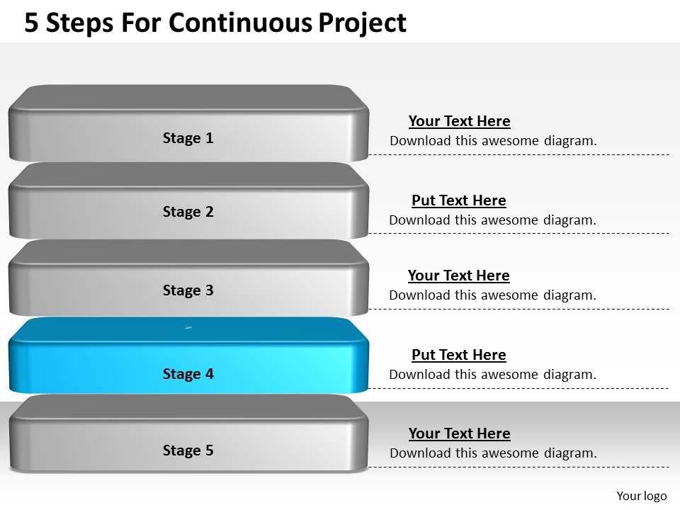 1013 Business Ppt diagram 5 Steps For Continuous Project Review - project review template