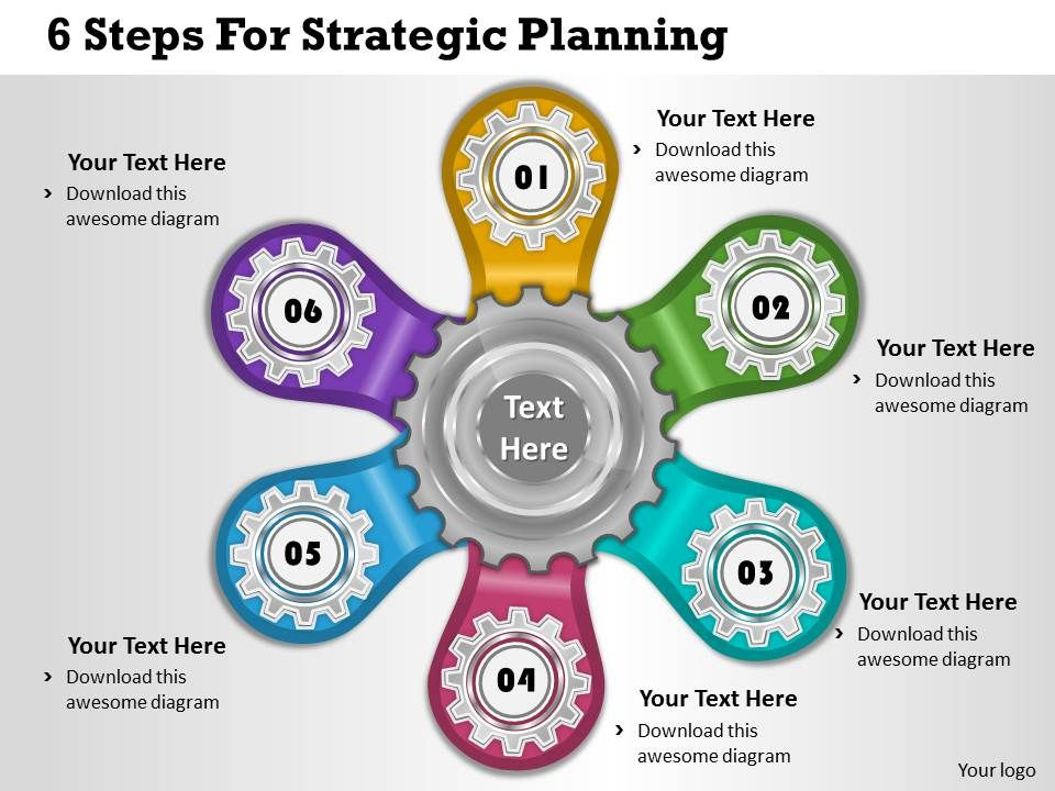 1013 Business Ppt diagram 6 Steps For Strategic Planning Powerpoint