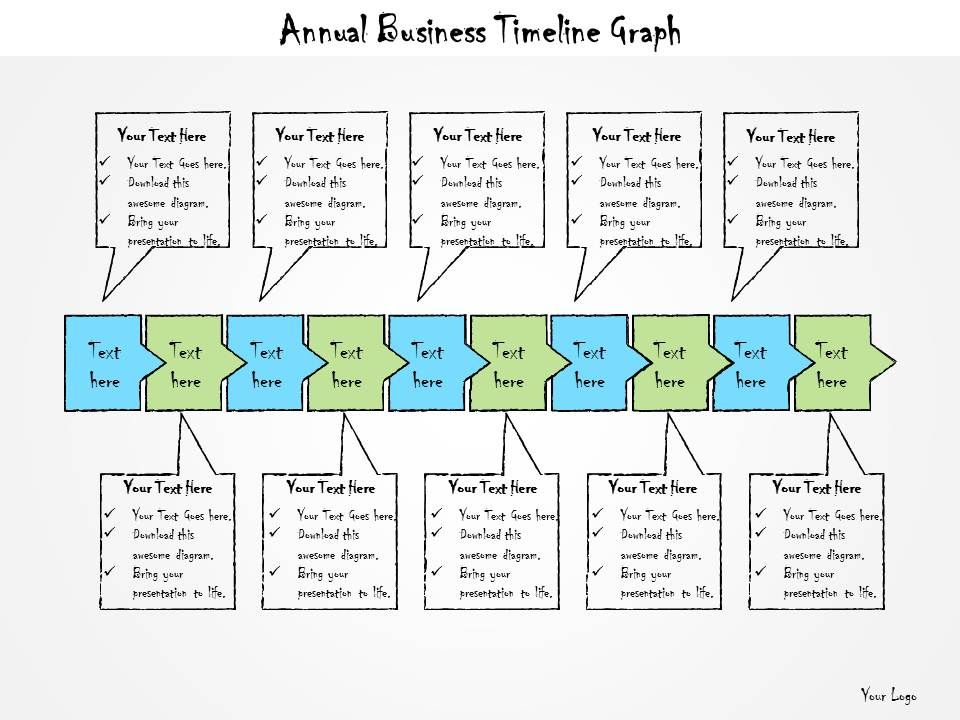 1013 Business Ppt Diagram Annual Business Timeline Graph Powerpoint