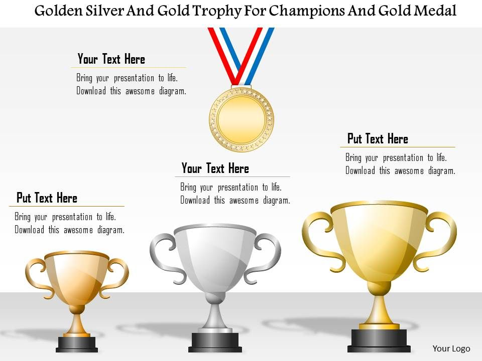 1214 Golden Silver And bronze Trophy For Champions And Gold Medal - gold medal templates