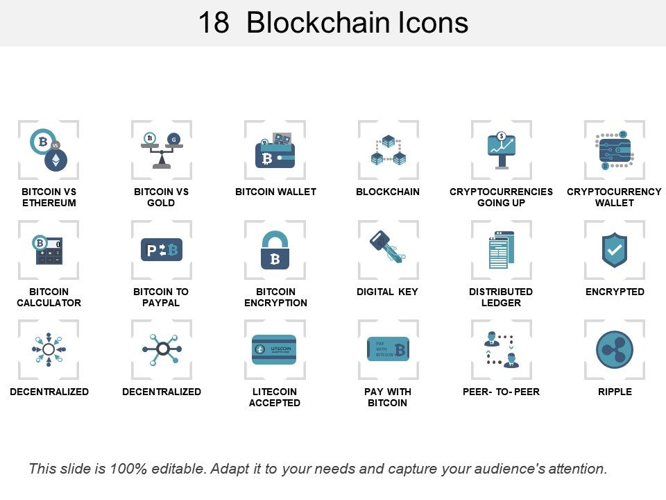18 Blockchain Icons PowerPoint Templates Backgrounds Template - wallet designs templates