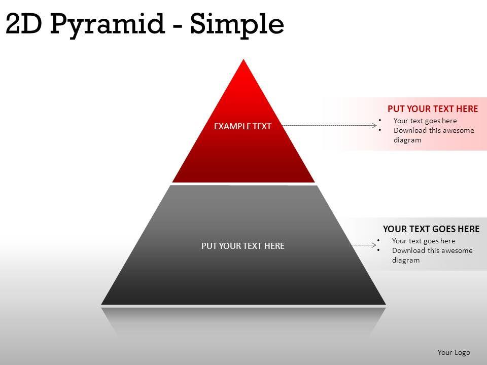 2d Pyramid Simple Powerpoint Presentation Slides PowerPoint