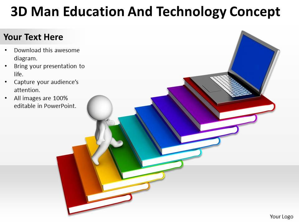 3D Man Education And Technology Concept Free Ppt Templates Graphics