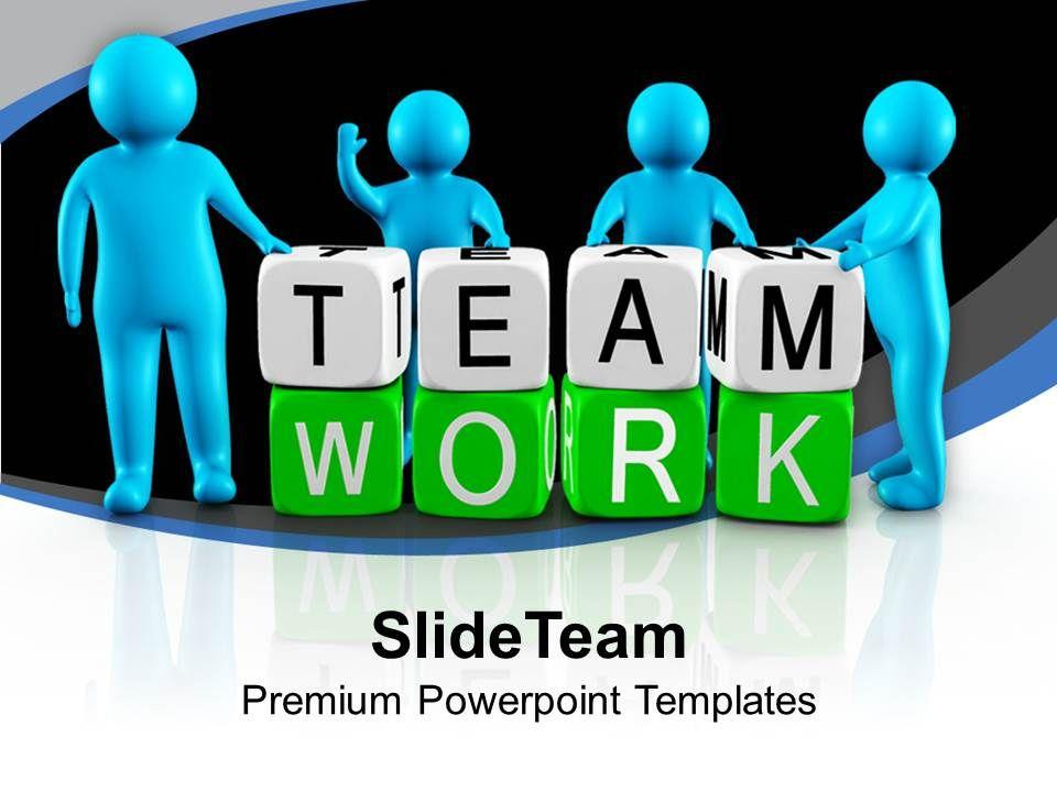 3d Men Working As Team Teamwork PowerPoint Templates PPT Themes And - teamwork powerpoint