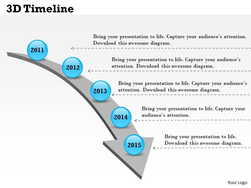 3D Timeline Powerpoint Template Slide PowerPoint Presentation