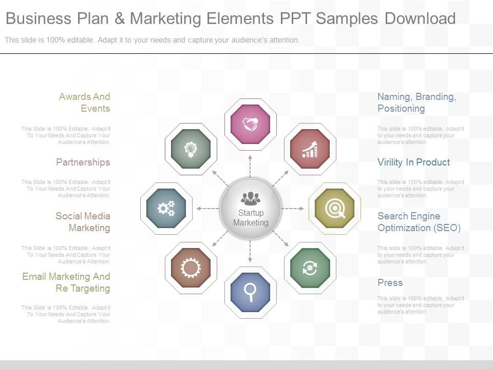 App Business Plan And Marketing Elements Ppt Samples Download - business plan elements
