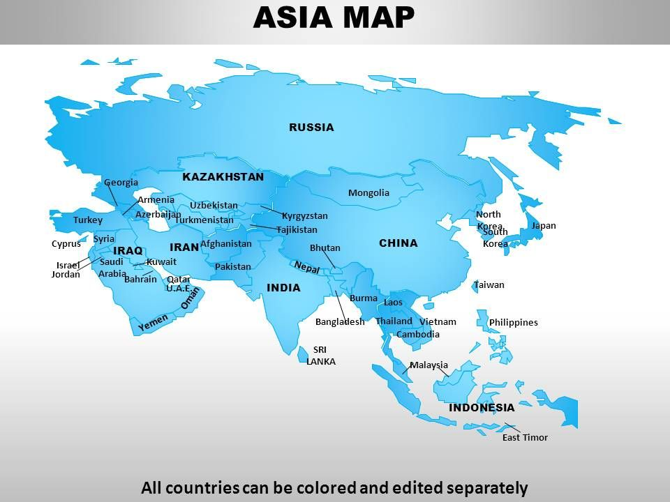 Asia Continents PowerPoint maps Templates PowerPoint Slides PPT