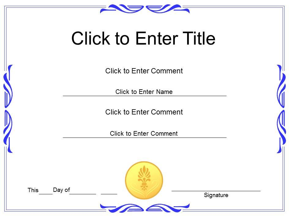 Award Recognition diploma Certificate Template of Achievement - powerpoint certificate template