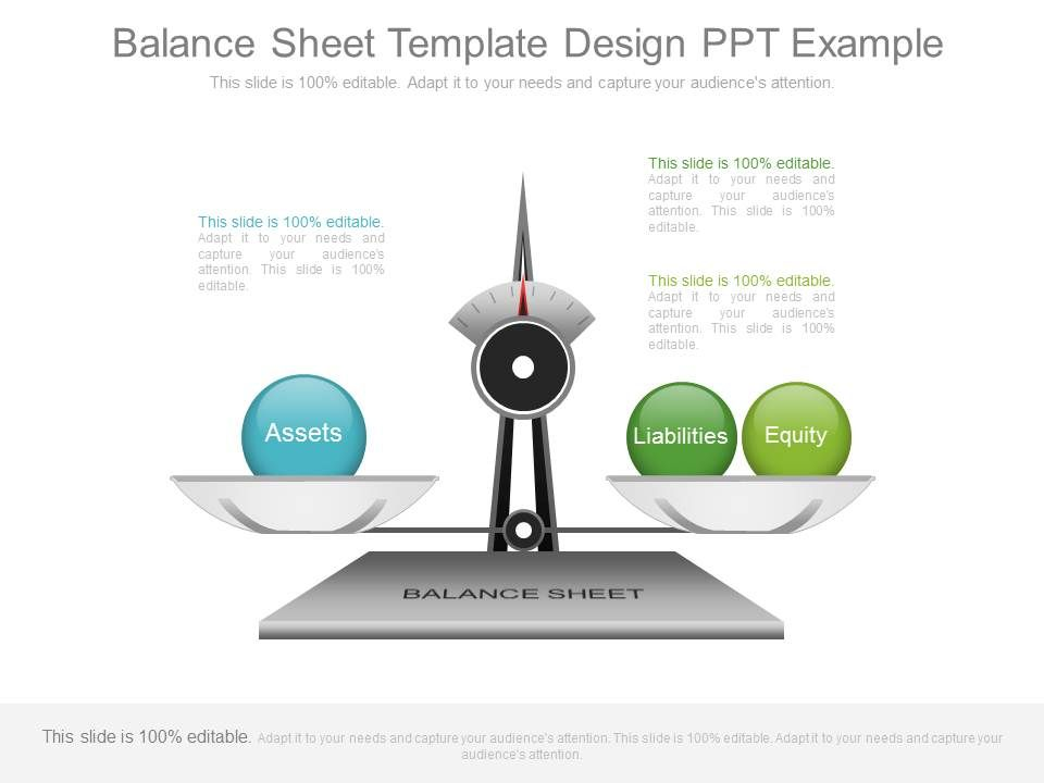 Balance Sheet Template Design Ppt Example PowerPoint Slide