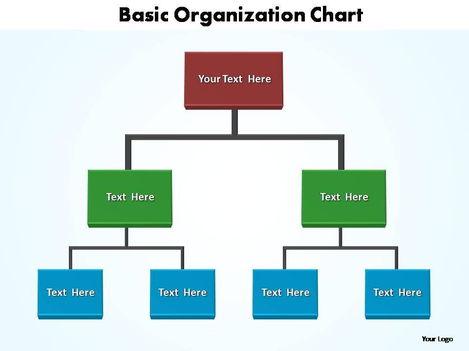 basic organization chart editable powerpoint templates PowerPoint - basic organization chart