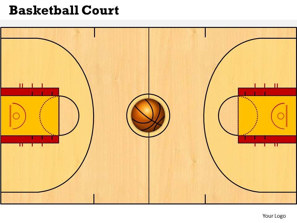 Basketball Court Powerpoint Template Slide PowerPoint Presentation - basketball powerpoint template