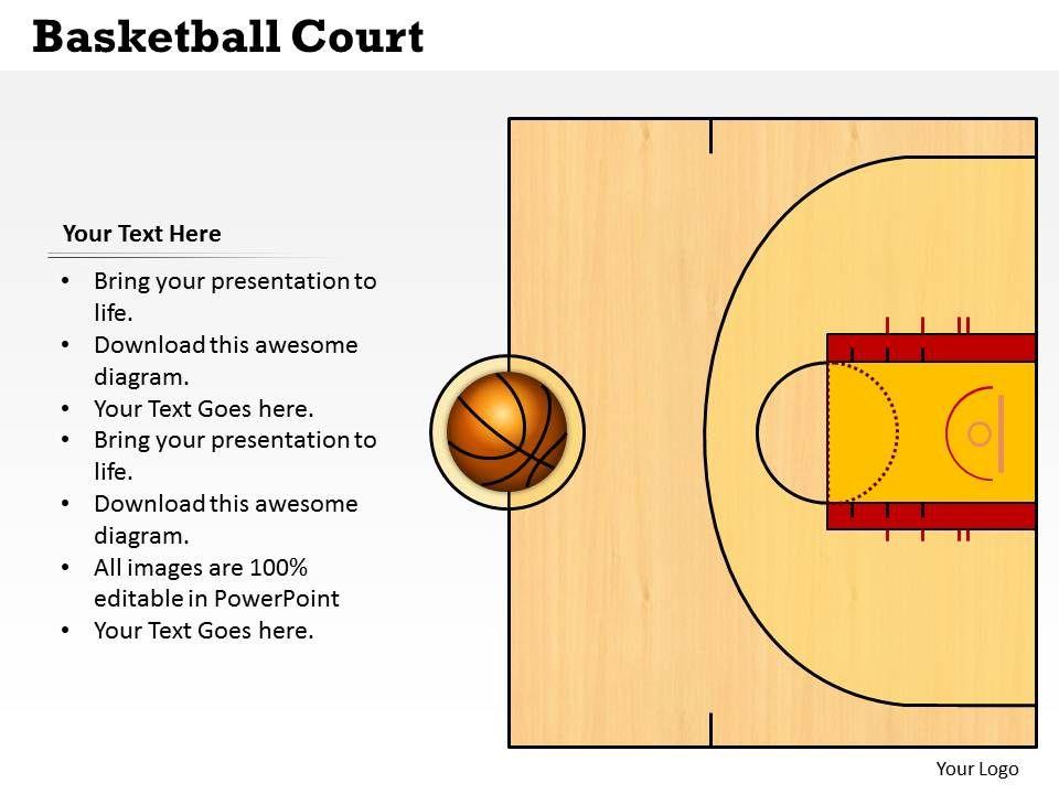 Basketball Court Powerpoint Template Slide PowerPoint - basketball powerpoint template