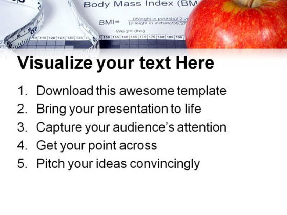 Body Mass Index Chart Health PowerPoint Templates And PowerPoint - bmi chart template