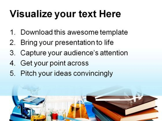 Books Flasks Science PowerPoint Template 0810 Templates PowerPoint - powerpoint books