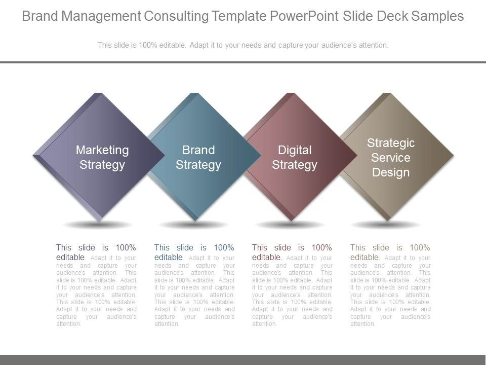 Brand Management Consulting Template Powerpoint Slide Deck Samples - consulting presentation templates