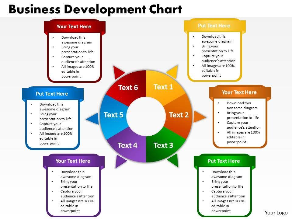 business development chart powerpoint templates graphics slides 0712