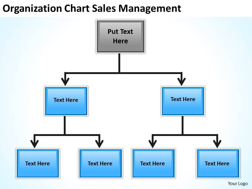 Business Flow Chart Origanization Sales Management Powerpoint - flowchart template