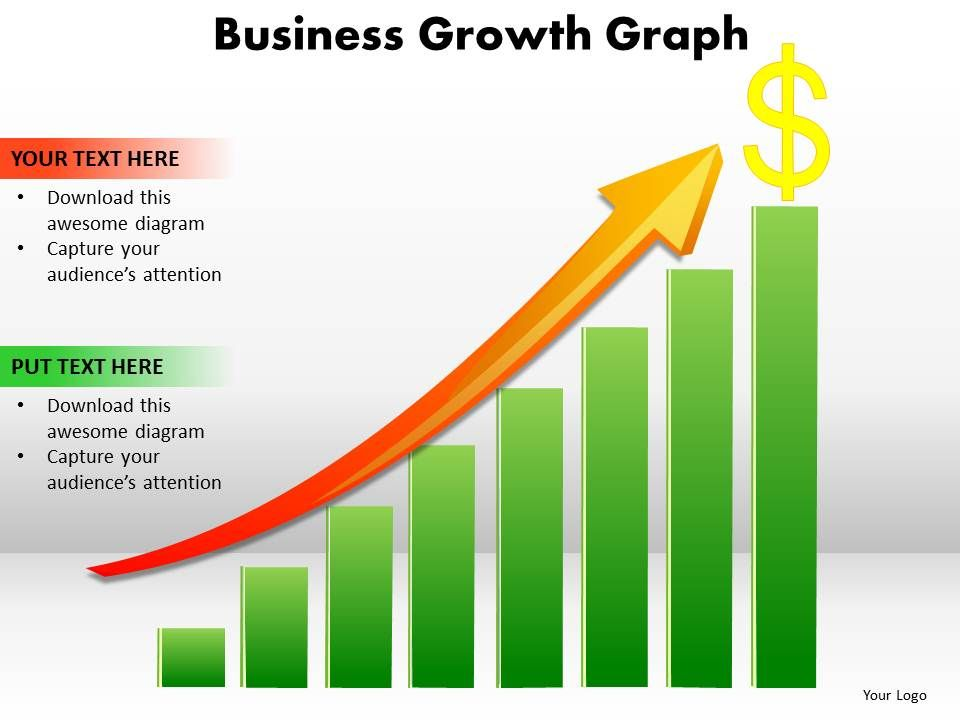 business growth graph bar chart with arrow going up and dollar sign
