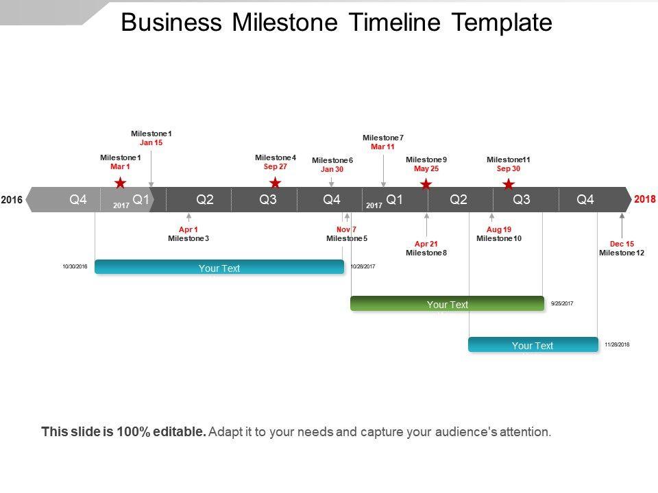 Business Milestone Timeline Template Sample Of Ppt Template - business timeline template