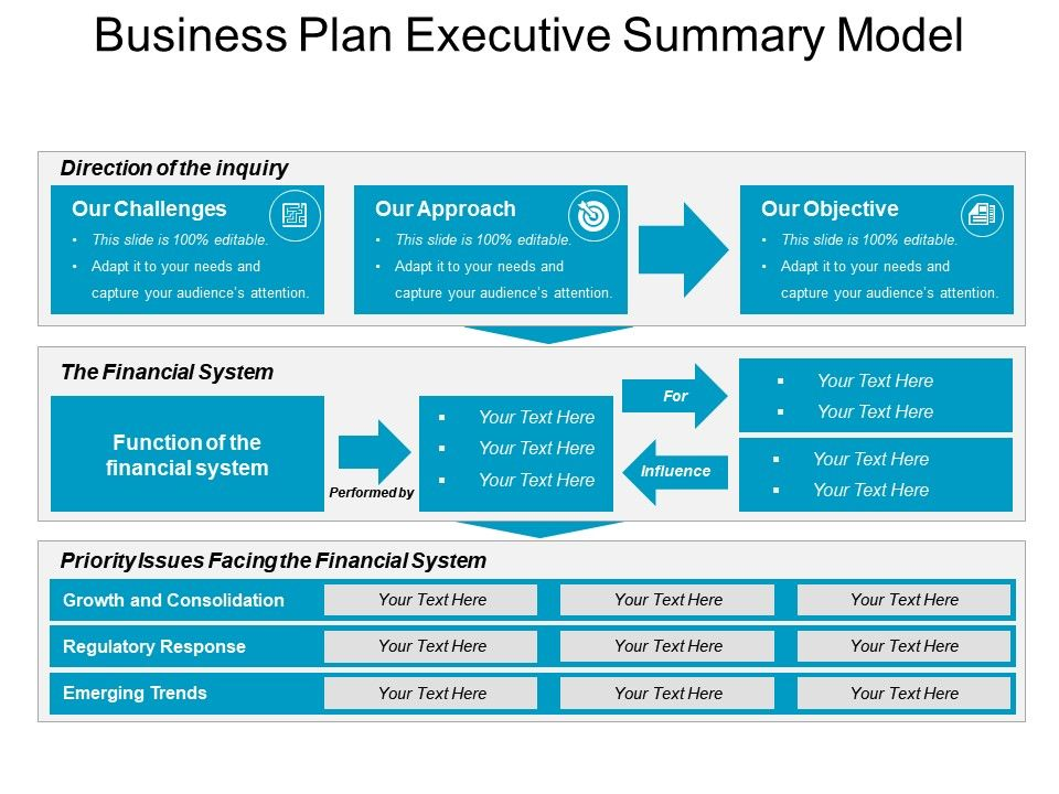 Business Plan Executive Summary Model Good Ppt Example PowerPoint