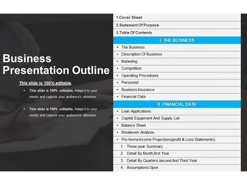 business presentation outline - Towerssconstruction