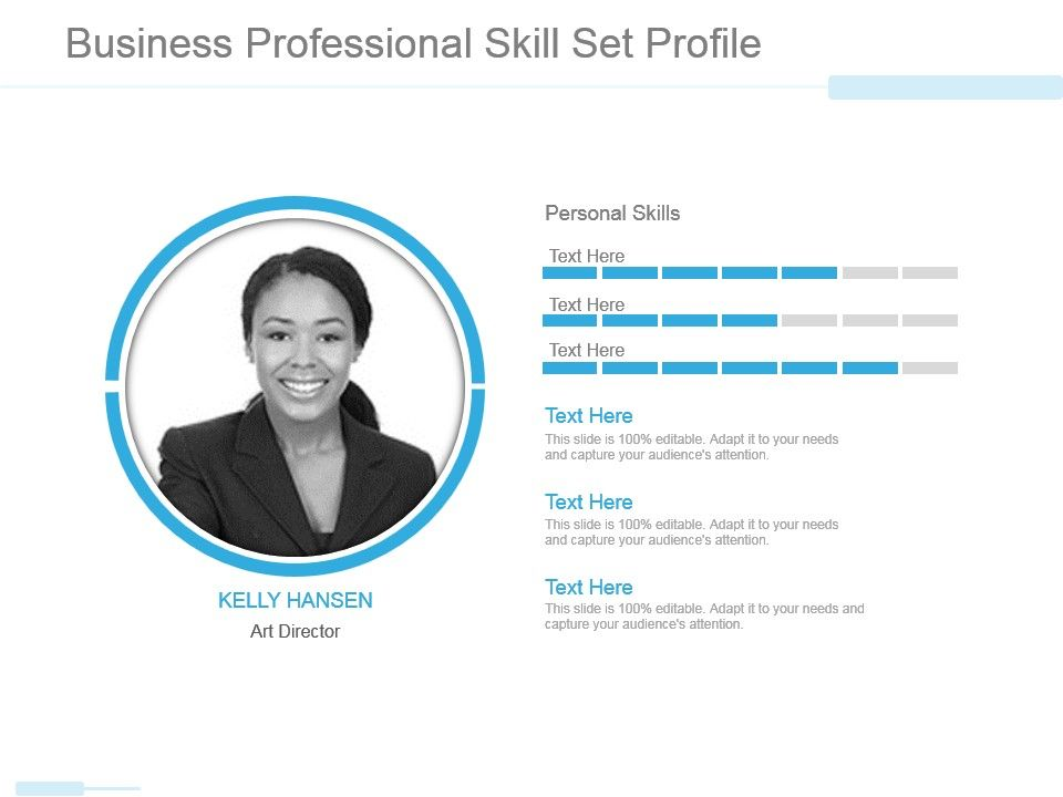 Business Professional Skill Set Profile Powerpoint Slide Designs