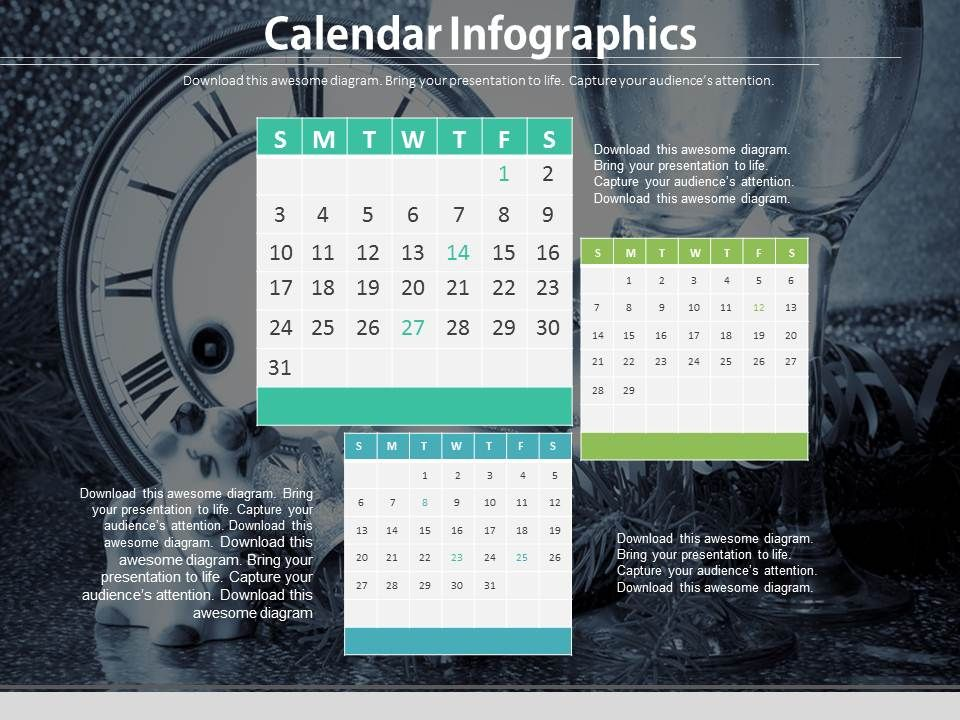 Calendar Infographics For Data Verification Powerpoint Slides - sample power point calendar