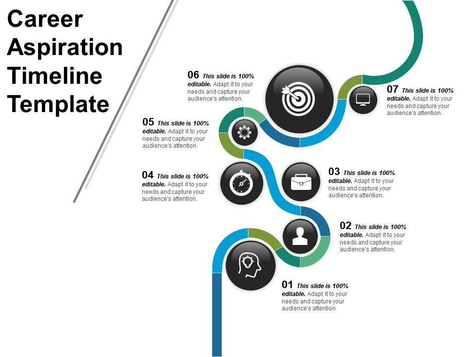 Career Aspiration Timeline Template Powerpoint Shapes PPT Images