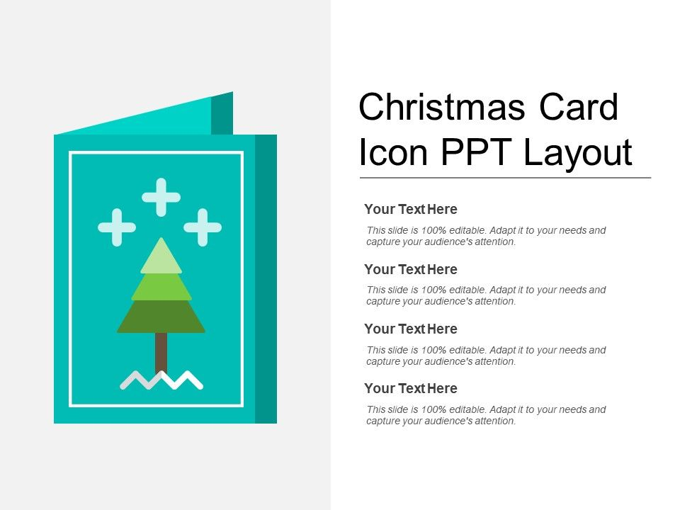 Christmas Card Icon Ppt Layout PowerPoint Templates Download PPT