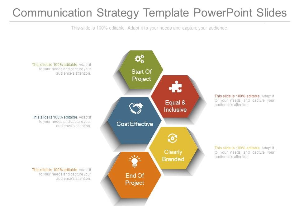 Communication Strategy Template Powerpoint Slides PowerPoint - communication strategy