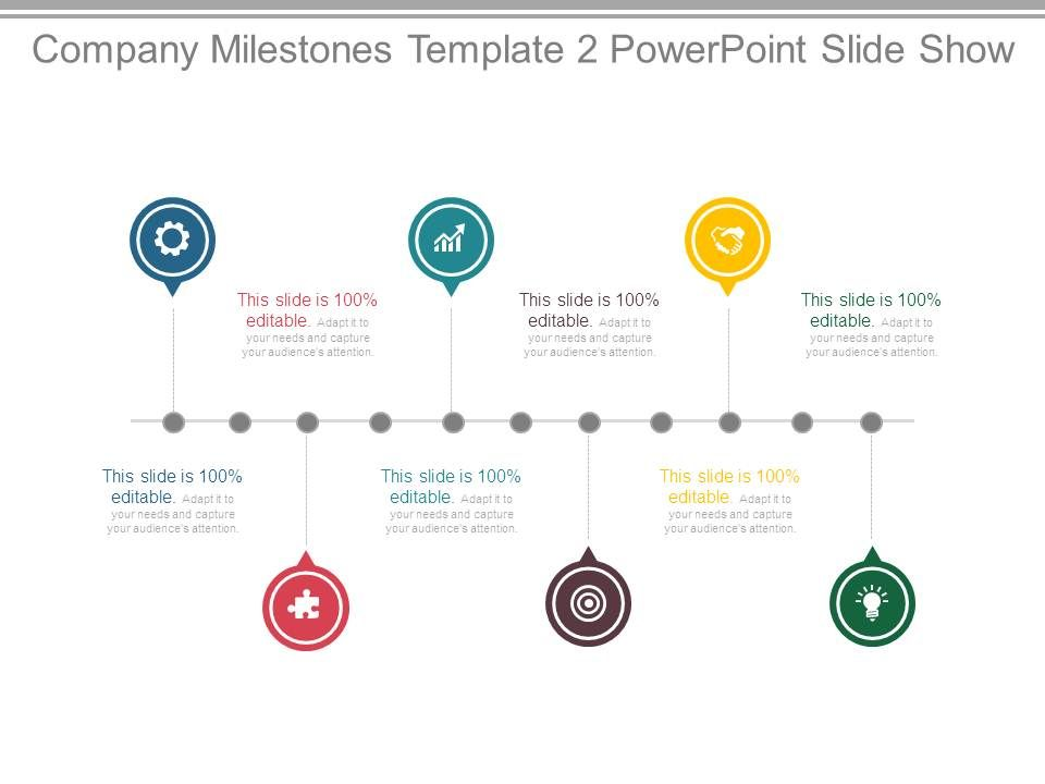 Company Milestones Template 2 Powerpoint Slide Show PowerPoint