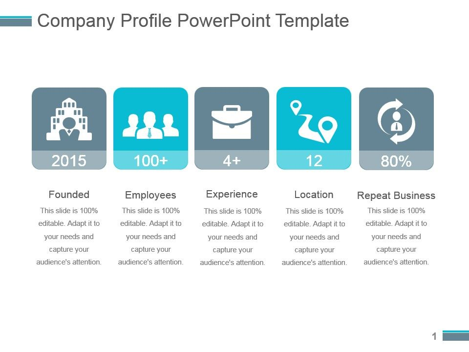 Company Profile Powerpoint Template PowerPoint Slide Presentation - free company profiles template