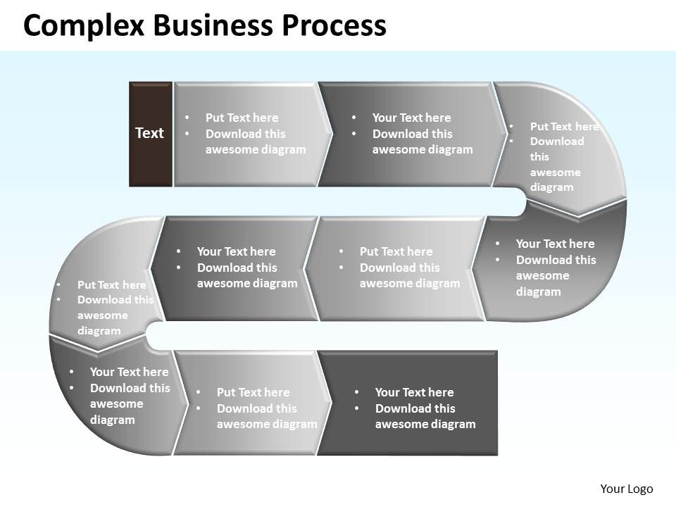 Complex Business Process Powerpoint templates ppt presentation