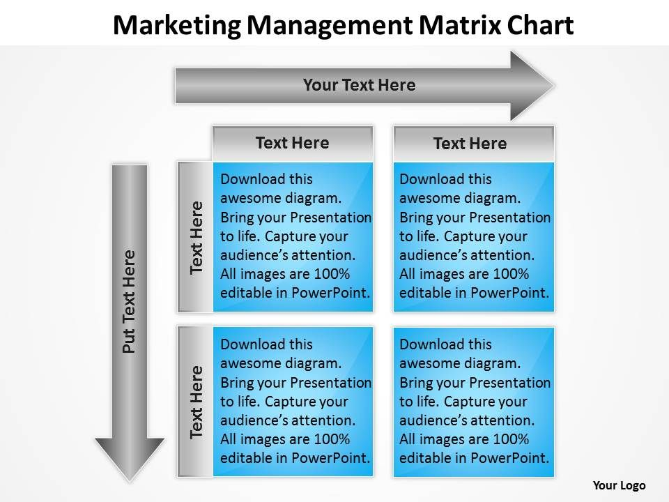 Consulting Companies Management Matrix Chart Powerpoint Templates - Consulting Presentation Templates