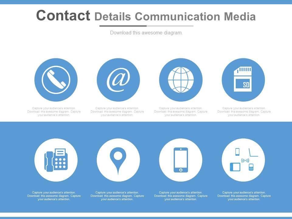 Contact Details Communication Media Ppt Slides Templates