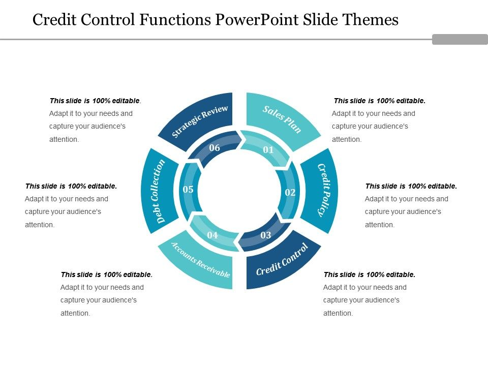 Credit Control Functions Powerpoint Slide Themes PowerPoint