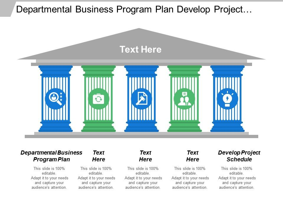 Departmental Business Program Plan Develop Project Schedule