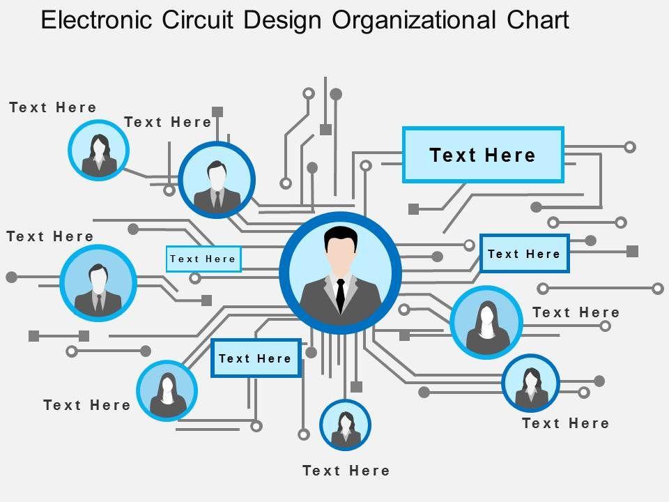 Electronic Circuit Design Organizational Chart Flat Powerpoint - circuit design background