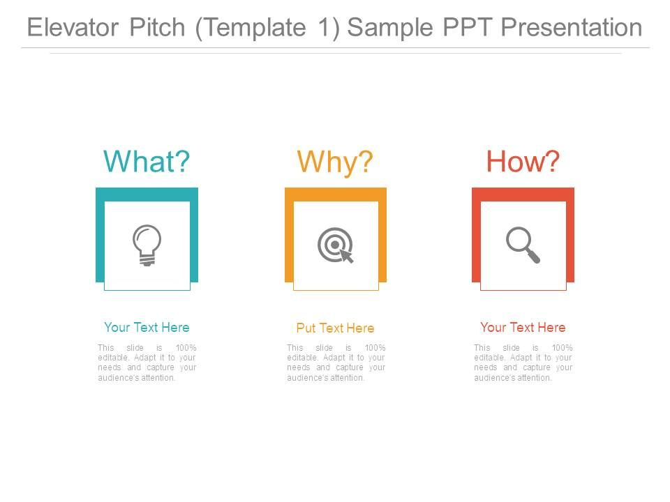 Elevator Pitch Template 1 Sample Ppt Presentation Templates - product pitch template