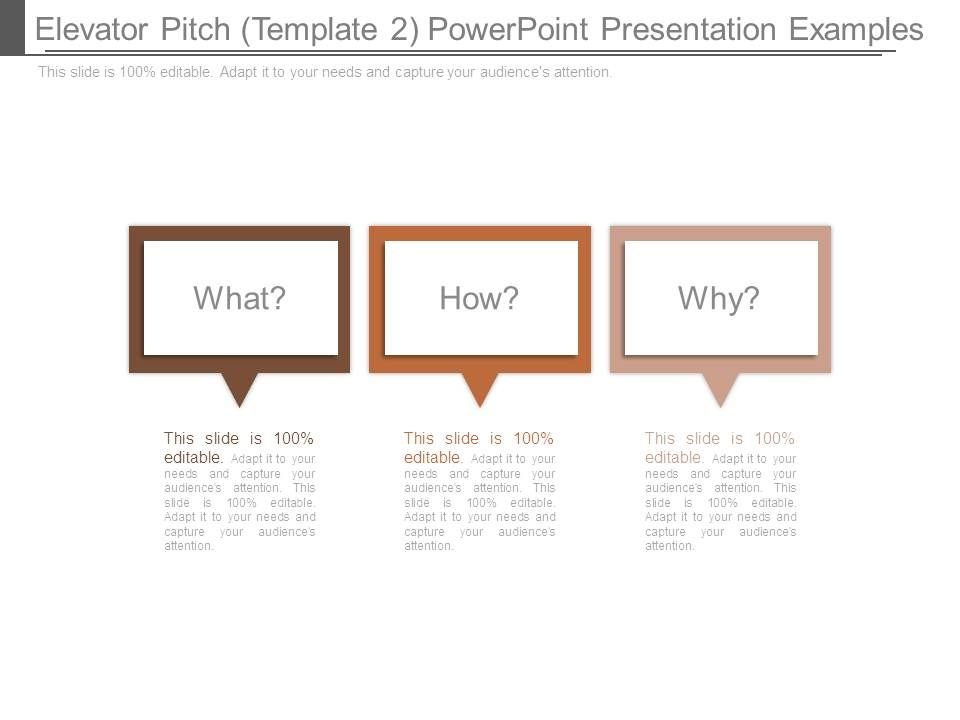 Elevator Pitch Template 2 Powerpoint Presentation Examples - elevator pitch template