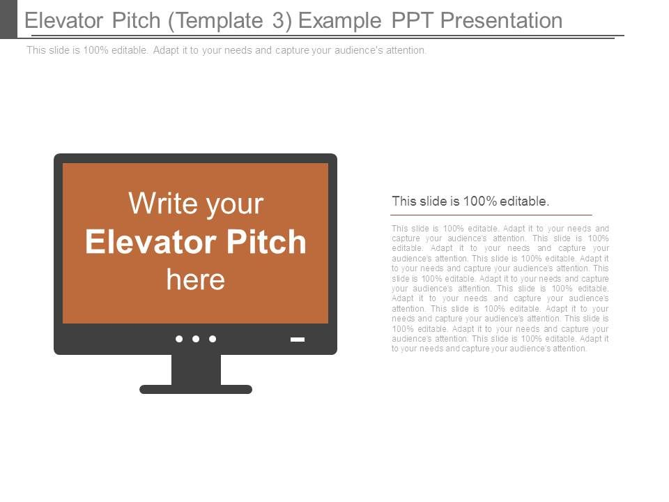 Elevator Pitch Template 3 Example Ppt Presentation PowerPoint - product pitch template